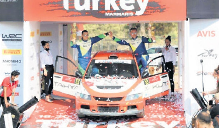 Rally Turkey'de dereceye girdi